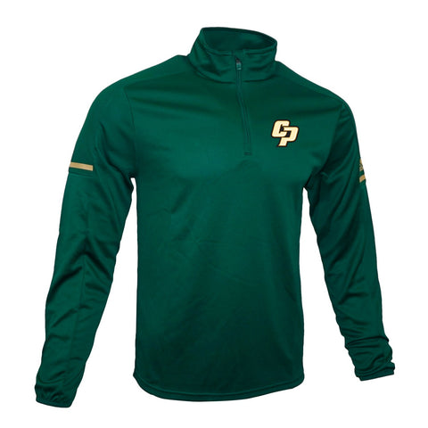 Cal Poly Mustangs NCAA Adidas Men's 2017 Sideline Game Built Dark Green Knit