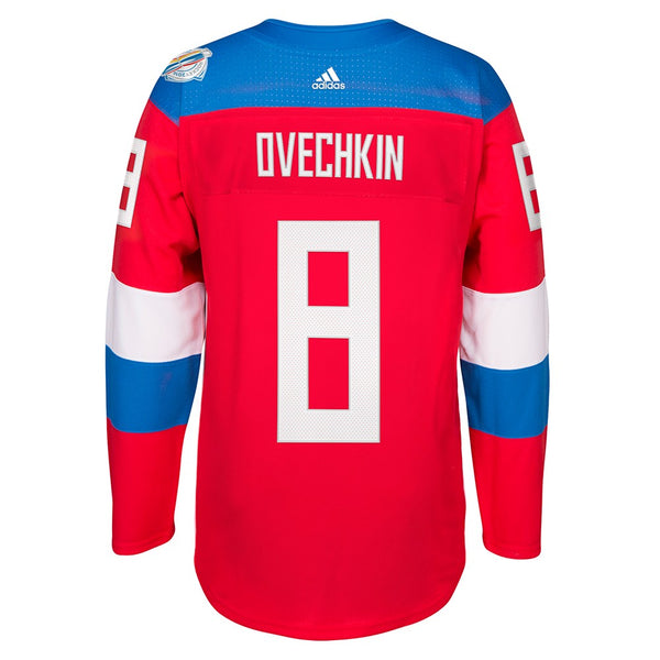 Alex Ovechkin Russia NHL Adidas Red 2016 World Cup Of Hockey Premier Jersey