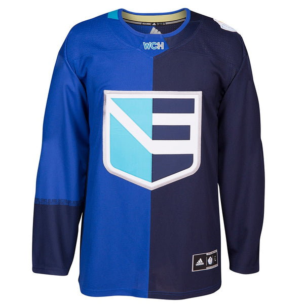 Europe NHL Men's Adidas Blue 2016 World Cup of Hockey Premier Home Jersey