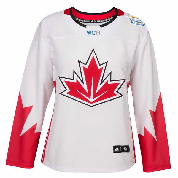 Canada NHL Adidas Women's White 2016 World Cup of Hockey Premier Away Jersey