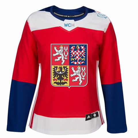 2016 Czech Republic World Cup of Hockey Adidas NHL Women's Red Premier Jersey