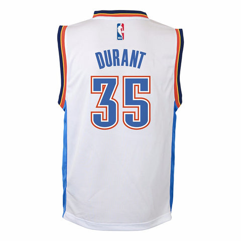Kevin Durant Oklahoma City Thunder NBA Adidas Toddler White Home Replica Jersey