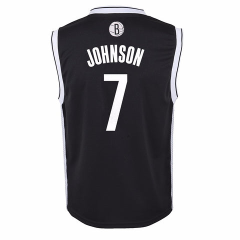 Joe Johnson Brooklyn Nets NBA Adidas Toddler Black Official Road Replica Jersey