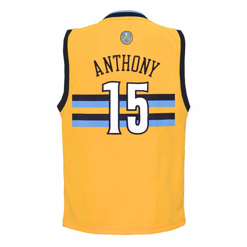Carmelo Anthony Denver Nuggets NBA Adidas Toddler Gold Alternate Replica Jersey