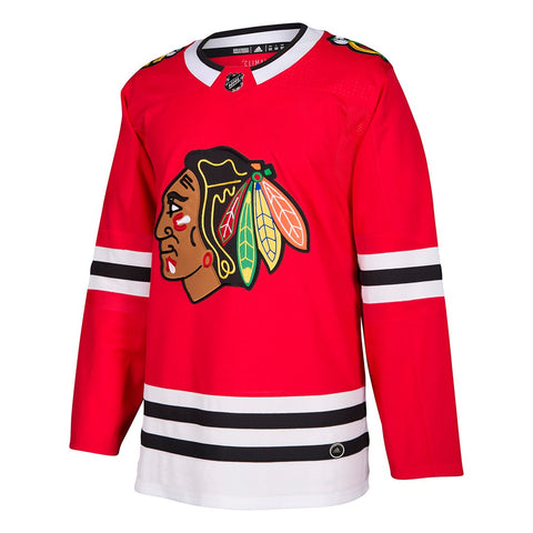 2017-18 Chicago Blackhawks Adidas Authentic On-Ice Home Red Jersey Men's