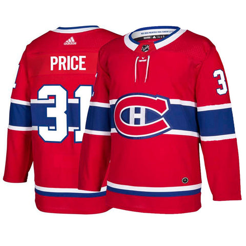 Carey Price Montreal Canadiens NHL Adidas Men's Red Authentic On-Ice Pro Jersey