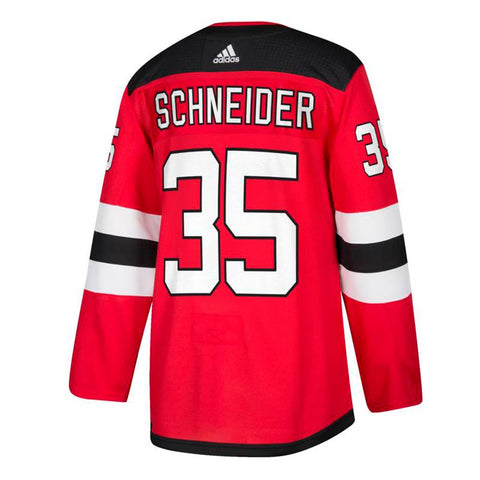 Cory Schneider New Jersey Devils NHL Adidas Red Authentic On-Ice Pro Jersey