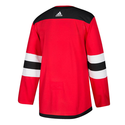 2017-18 New Jersey Devils Adidas Authentic On-Ice Home Red Jersey Men's
