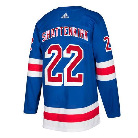 Kevin Shattenkirk New York Rangers NHL Adidas Blue Authentic On-Ice Pro Jersey