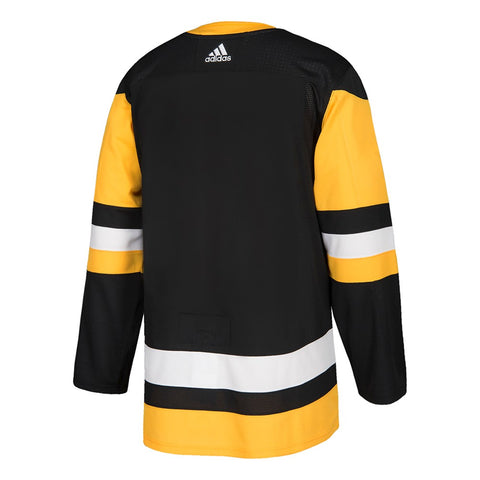2017-18 Pittsburgh Penguins Adidas Authentic On-Ice Home Black Jersey Men's