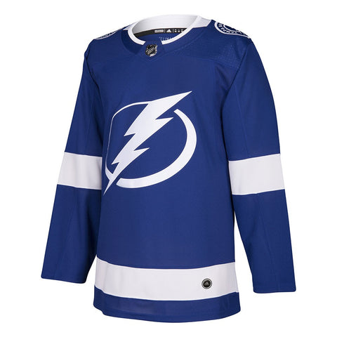 2017-18 Tampa Bay Lightning Adidas Authentic On-Ice Home Blue Jersey Men's
