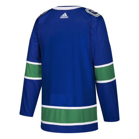 2017-18 Vancouver Canucks Adidas Authentic On-Ice Home Blue Jersey Men's