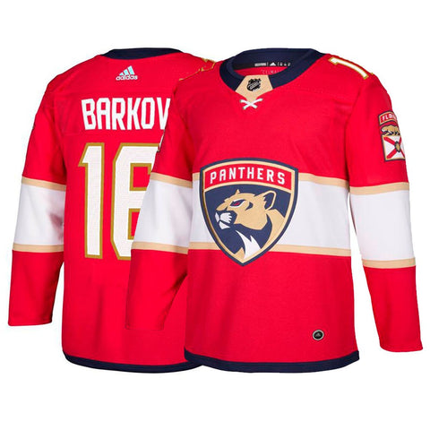 Aleksander Barkov Florida Panthers NHL Adidas Red Authentic On-Ice Pro Jersey