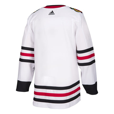 2017-18 Chicago Blackhawks Adidas Authentic On-Ice Away White Jersey Men's