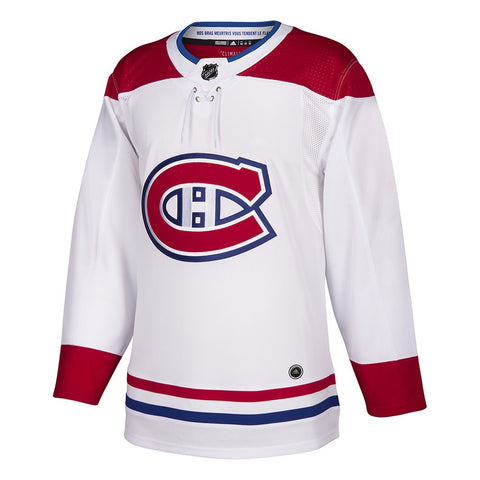 2017-18 Montreal Canadiens Adidas Authentic On-Ice Away White Jersey Men's