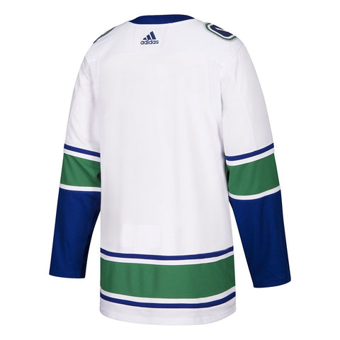 2017-18 Vancouver Canucks Adidas Authentic On-Ice Away White Jersey Men's