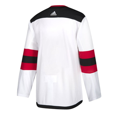2017-18 New Jersey Devils Adidas Authentic On-Ice Away White Jersey Men's
