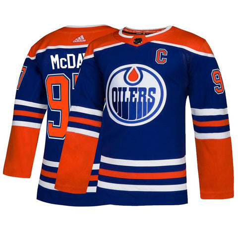 Connor McDavid Edmonton Oilers NHL Adidas Men's Blue Authentic On-Ice Pro Jersey