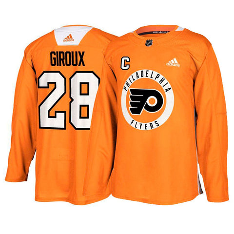 Claude Giroux Philadelphia Flyers NHL Orange Authentic Practice Player Jersey