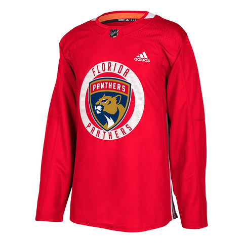 Florida Panthers NHL Adidas Men's Red Authentic Practice Team Jersey