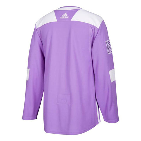 "New Jersey Devils NHL Adidas Men's Purple ""Hockey Fights Cancer"" Practice Jersey"