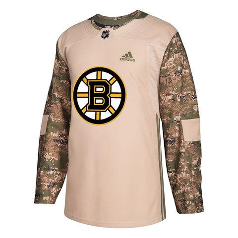 Boston Bruins NHL Adidas Men's Camo 2018 Authentic Veterans Day Practice Jersey