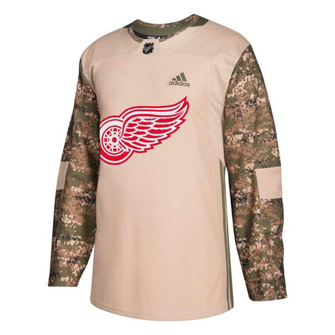 Detroit Red Wings NHL Adidas Camo 2018 Authentic Veterans Day Practice Jersey