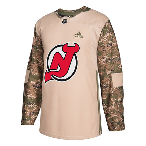 New Jersey Devils NHL Adidas Camo 2018 Authentic Veterans Day Practice Jersey