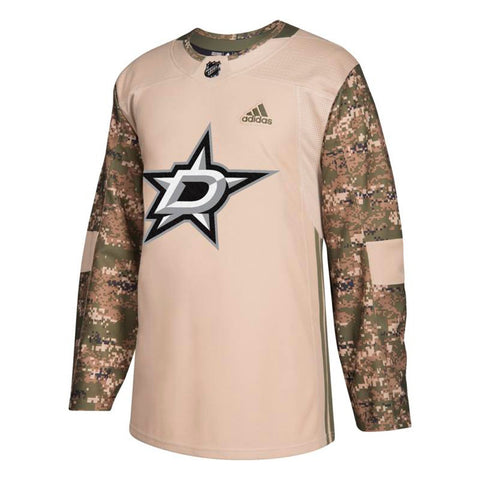 Dallas Stars NHL Adidas Men's Camo 2018 Authentic Veterans Day Practice Jersey
