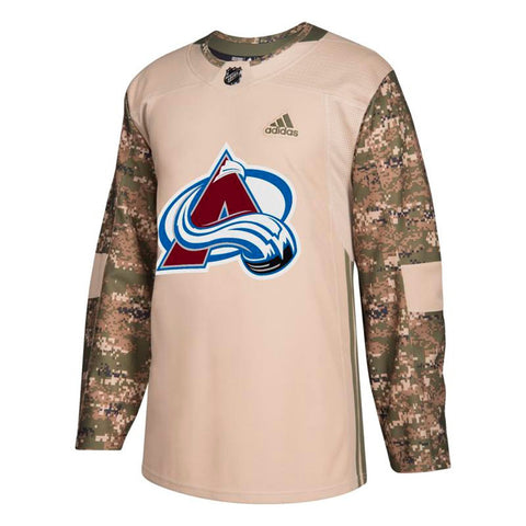 Colorado Avalanche NHL Adidas Camo 2018 Authentic Veterans Day Practice Jersey