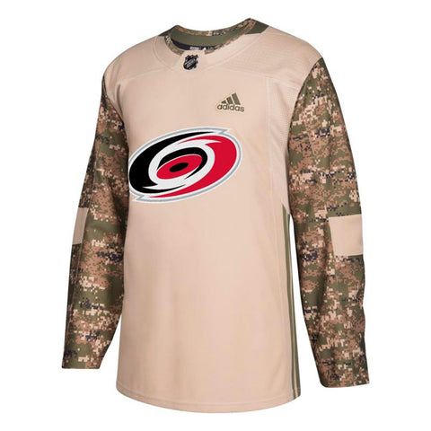 Carolina Hurricanes NHL Adidas Camo 2018 Authentic Veterans Day Practice Jersey