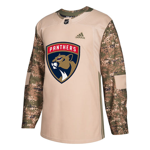 Florida Panthers NHL Adidas Camo 2018 Authentic Veterans Day Practice Jersey