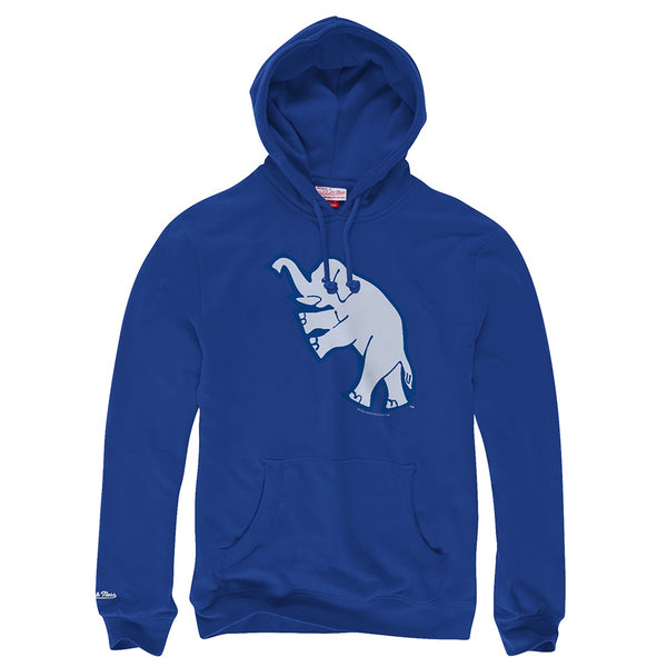 "Philadelphia Athletics MLB M&N Blue Vintage ""White Elephant"" Pullover Hoodie"