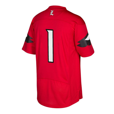 Louisville Cardinals #1 NCAA Adidas Men's Red Official Home Premier Jersey
