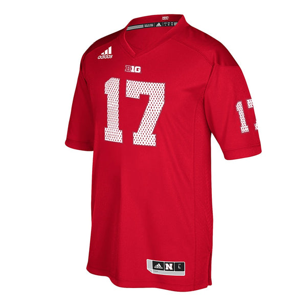 Nebraska Cornhuskers #17 NCAA Adidas Red 2017 Official Special Event Jersey