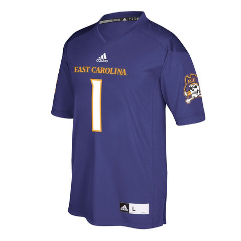 East Carolina Pirates #1 NCAA Adidas Purple Official Home Premier Jersey