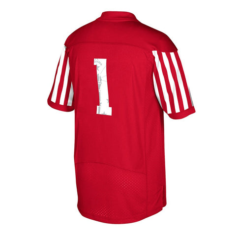 Indiana Hoosiers #1 NCAA Adidas Red Official 2017 Special Games Premier Jersey