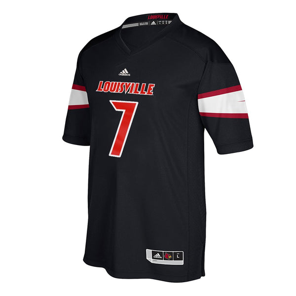 Louisville Cardinals #7 NCAA Adidas Black Official Alternate Premier Jersey