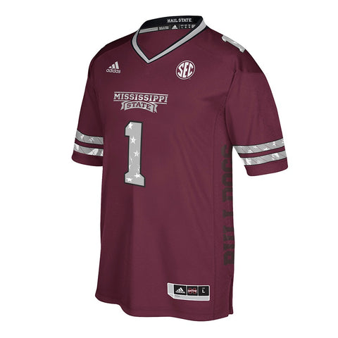 Mississippi State Bulldogs #1 NCAA Maroon 2017 Special Games Premier Jersey