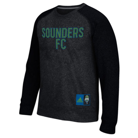 Seattle Sounders MLS Adidas Men's Climawarm Navy Blue Ultimate Crew Fleece
