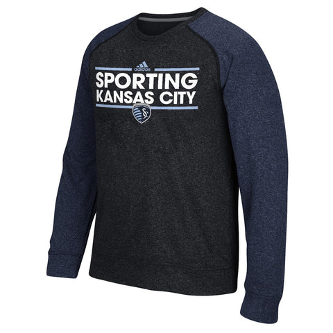 Sporting Kansas City MLS Adidas Men's Climawarm Navy Blue Ultimate Crew Fleece