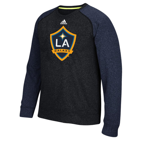 LA Galaxy MLS Adidas Men's Climawarm Navy Blue Ultimate Crew Fleece