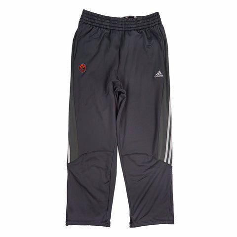 New York Knicks Adidas Official Practice On-Court Graphic Grey Pants Men's