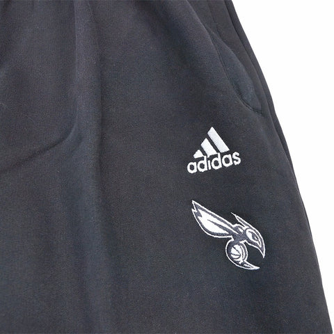 Charlotte Hornets Adidas NBA Official Post Game Perf. Black Fleece Pants Men's