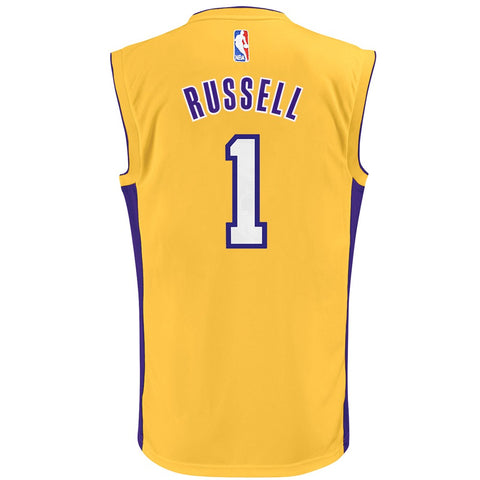 D'Angelo Russell NBA Los Angeles Lakers Gold Player Replica Jersey Youth (S-XL)