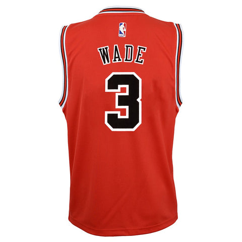 Dwyane Wade NBA Chicago Bulls Official Road Red Player Replica Jersey Youth S-XL