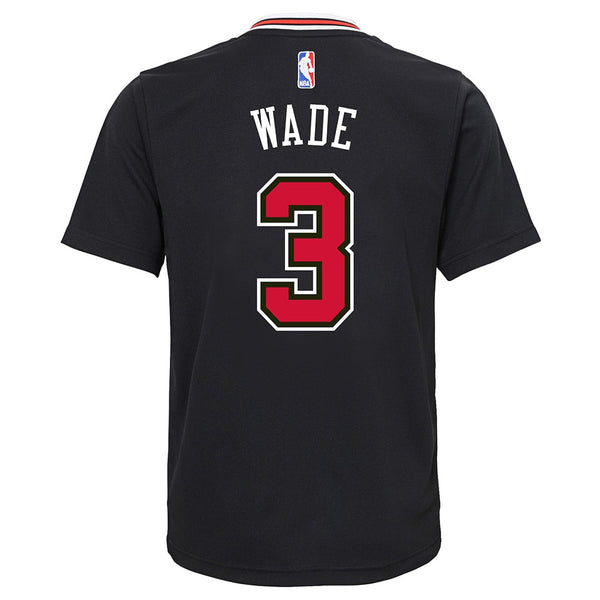 Dwyane Wade NBA Chicago Bulls Alternate Black Player Replica Jersey Youth (S-XL)