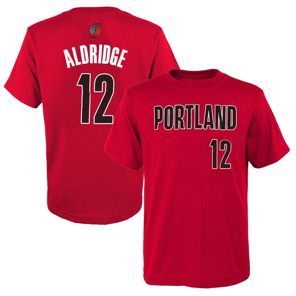 LaMarcus Aldridge NBA Portland Trail Blazers Red Jersey T-Shirt Youth (S-XL)