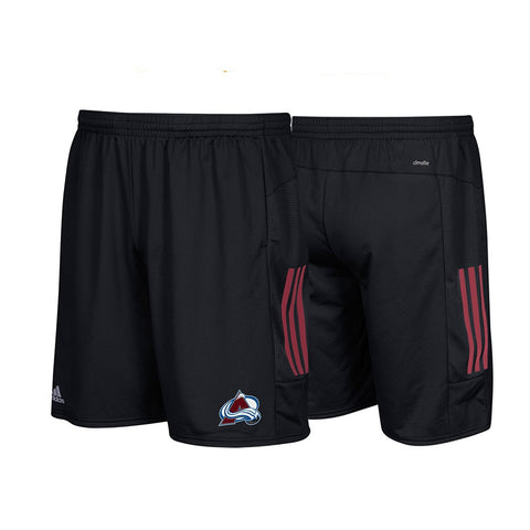 Colorado Avalanche NHL Adidas Climalite 3-Stripes Black Center Ice Shorts