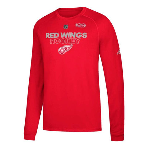 Detroit Red Wings NHL Adidas Men's Centennial Ice 2017 Red T-Shirt
